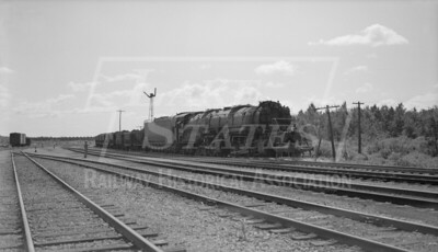2018.15.N76.7898--ed wilkommen 116 neg--DM&IR--steam locomotive 2-8-8-4 M4 229 with train of ore loads in yard--location unknown--no date