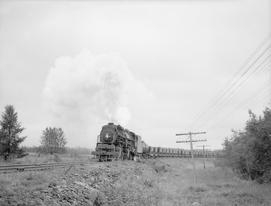 2018.15.N76.6024--ed wilkommen 3x4 neg--DM&IR--steam locomotive 2-8-8-2 M1 209 on empty ore train action--location unknown--no date