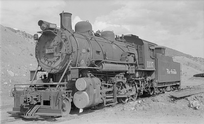 2018.15.N73.5765--ed wilkommen 116 neg--D&RGW--steam locomotive 2-8-0 C-48 1137--Salida CO--1952 0900