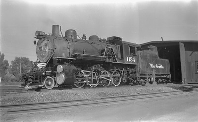 2018.15.N73.5761--ed wilkommen 116 neg--D&RGW--steam locomotive 2-8-0 C-48 1134--Montrose CO--1951 0707