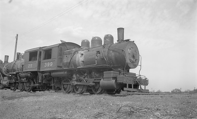 2018.15.N71.5576--ed wilkommen 116 neg--GN--steam locomotive 0-6-0 A-9 399 (retired)--Superior WI--1947 0531