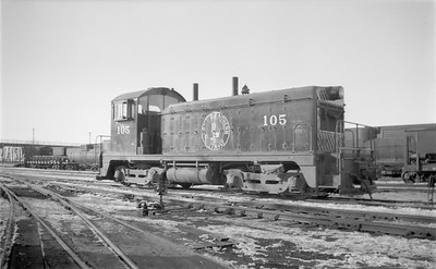2018.15.N71.5568--ed wilkommen 116 neg--GN--diesel locomotive EMD switcher 105--Willmar MN--1946 0217