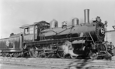 2018.15.L.6981N--ed wilkommen 5x7 COPY neg--CMStP&P--steam locomotive 4-6-0 G5s 1190--location unknown--no date