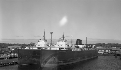 2018.15.N63.8183--ed wilkommen 116 neg--Pere Marquette--boat 21 on left 22 on right--Manitowoc WI--no date