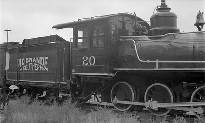 2018.15.N49K.1807--ed wilkommen 116 neg--RGS--steam locomotive 20--Golden CO--1960s