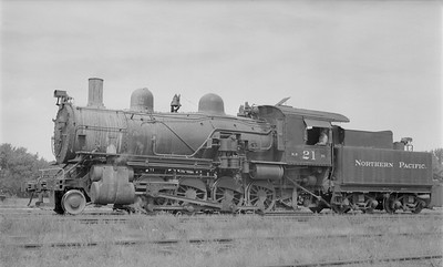 2018.15.N72.5638--ed wilkommen 116 neg--NP--steam locomotive 2-8-0 Y-1 21--Jamestown ND--1955 0828