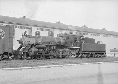 2018.15.N64.2544--ed wilkommen 6x7 neg--A&W--steam locomotive 2-6-0 260 switching--Algoma WI--no date