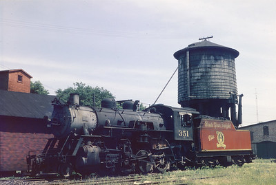 2018.15.N64.2551--ed wilkommen 6x9 neg--A&W--steam locomotive 2-8-0 351--Sturgeon Bay WI--1952 0712