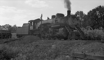 2018.15.N64.2555K--ed wilkommen 116 neg--Bevier & Southern--steam locomotive 2-8-2 4963 (leased from CB&Q) at shops--Bevier MO--no date