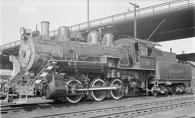 2018 15 N64 2603--ed wilkommen 116 neg--DRI&NW--steam locomotive 0-6-0 50--Davenport IA--1953 0900
