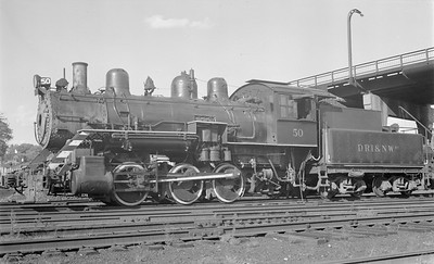 2018 15 N64 2601--ed wilkommen 116 neg--DRI&NW--steam locomotive 0-6-0 50--Davenport IA--1953 0900