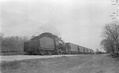 2018 15 N64 2612--ed wilkommen 116 neg--DRI&NW--steam locomotive 0-6-0 51 shoving work train action--near Princeton IA--1953 1031