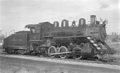 2018 15 N64 2606--ed wilkommen 116 neg--DRI&NW--steam locomotive 0-6-0 51--Pleasant Valley IA--1953 1031