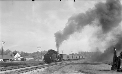 2018 15 N64 2615--ed wilkommen 116 neg--DRI&NW--steam locomotive  0-6-0 51 shoving work train action--Pleasant Valley IA--1953 1031