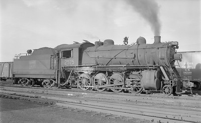 2018.15.N64.2668--ed wilkommen 116 neg--Duluth Winnipeg & Pacific--steam locomotive 2-8-0 2575--Virginia MN--1956 0902