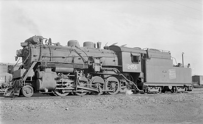 2018.15.N64.2661--ed wilkommen 116 neg--Duluth Winnipeg & Pacific--steam locomotive 2-8-0 2456--Virginia MN--1956 0902