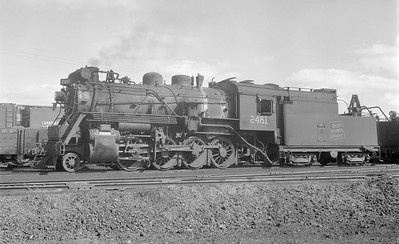 2018.15.N64.2665--ed wilkommen 116 neg--Duluth Winnipeg & Pacific--steam locomotive 2-8-0 2461--Virginia MN--no date