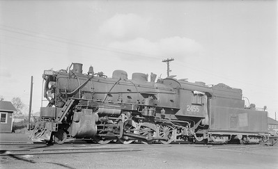 2018.15.N64.2658--ed wilkommen 116 neg--Duluth Winnipeg & Pacific--steam locomotive 2-8-0 2455--Virginia MN--1956 1008