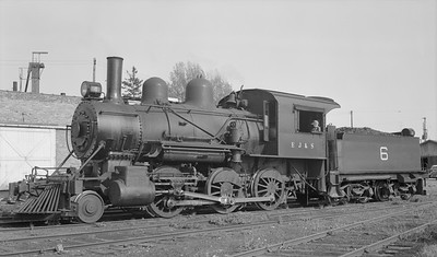 2018.15.N64C.7863--ed wilkommen 116 neg--EJ&S--steam locomotive 2-6-0 6--East Jordan MI--no date