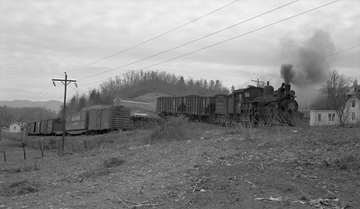 2018.15.N64C.2050--ed wilkommen 116 neg--Graham County--Shay steam locomotive 1926 switching coal loads--Robbinsville TN--no date
