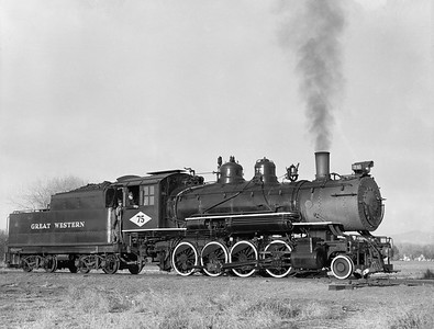 2018.15.N64D.8117--ed wilkommen 3x4 neg [Jim Ehernberger]--Great Western--steam locomotive 2-8-0 75--Loveland CO--1954 1111