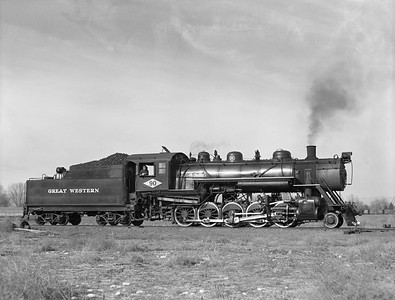 2018.15.N64D.8119--ed wilkommen 3x4 neg [Jim Ehernberger]--Great Western--steam locomotive 2-10-0 90--Loveland CO--1954 1111