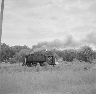 2018.15.N64B.7860B--ed wilkommen 120 neg--Illinois Midland Railroad--steam locomotive 0-4-0T 4--near Newark IL--no date