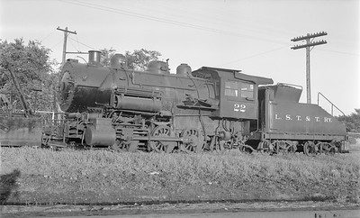 2018.15.N64.2782--ed wilkommen 116 neg--LST&T--steam locomotive 0-6-0 22--Superior WI--1953 0812
