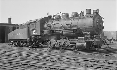 2018.15.N64.2781--ed wilkommen 116 neg--LST&T--steam locomotive 0-6-0 21--Superior WI--1953 0812