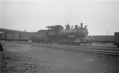 2018.15.N64.2777--ed wilkommen 116 neg--LST&T--steam locomotive 0-8-0 13 yard scene--Superior WI--1944 0625