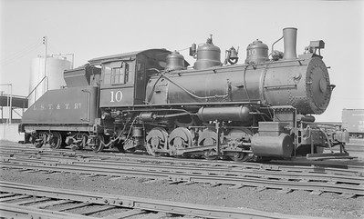 2018.15.N64.2776--ed wilkommen 116 neg--LST&T--steam locomotive 0-8-0 10 (ex NP)--Superior WI--1953 0812