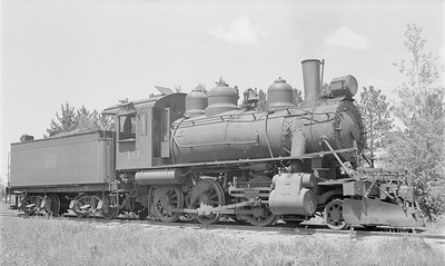 2018.15.N64.2804--ed wilkommen 116 neg--MT&W--steam locomotive 2-6-0 19--Bradley WI--1955 0615