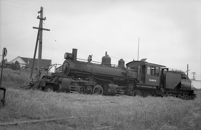 2018.15.N64.2556U--ed wilkommen 6x9 neg--Caspar South Fork & Eastern--steam locomotive 2-6-6-2 7 Samson--Caspar CA--no date