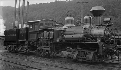 2018.15.N64L.8222--ed wilkommen 116 neg--Ely-Thomas Lumber Co--Shay steam locomotive 3--Fenwick WV--no date