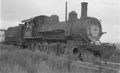 2018.15.N64.2935--ed wilkommen 116 neg--San Luis Valley Southern--steam locomotive 2-8-0 105--Blanca CO--1967 0700