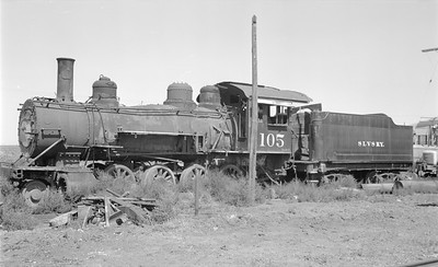 2018.15.N64.2934--ed wilkommen 116 neg--San Luis Valley Southern--steam locomotive 2-8-0 105--Blanca CO--1967 0700