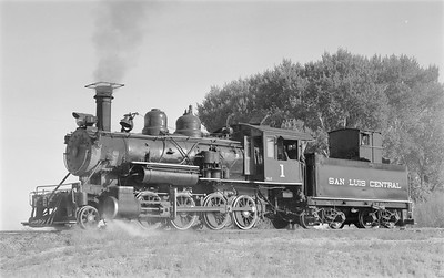 2018.15.N64.2939--ed wilkommen 116 neg--San Luis Central--steam locomotive 2-8-0 1--Monte Vista CO--1953 1001