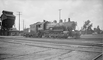 2018.15.N92.7023--ed wilkommen 116 neg--SOO--steam locomotive 2-8-0 F-8 437--Stevens Point WI--1944 0712