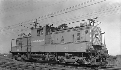 2018.15.N64.2725A--ed wilkommen 116 neg--IT--electric locomotive 51--Madison IL--1953 0906
