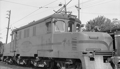 2018.15.N64.2725G--ed wilkommen 116 neg--IT--electric locomotive 74--Springfield IL--1954 0000