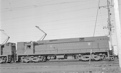 2018.15.N58.1969--ed wilkommen 116 neg--PRR electric locomotive 4431--location unknown--1960s