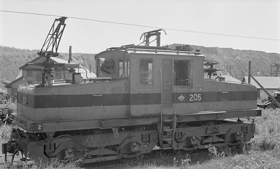 2018.15.N64.2717--ed wilkommen 116 neg--Gross-Marble Mining Co--electric locomotive 205--Marble MN--1961 0700