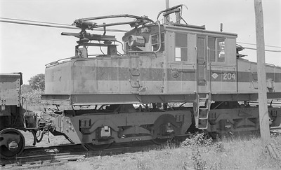 2018.15.N64.2718--ed wilkommen 116 neg--Gross-Marble Mining Co--electric locomotive 204--Marble MN--1961 0700