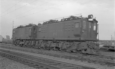 2018.15.N58.1957--ed wilkommen 116 neg--CN--electric locomotive 181--location unknown--1960s