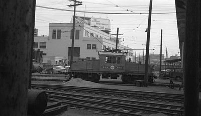 2018.15.N64.2562M--ed wilkommen 116 neg--British Columbia Hydro--electric locomotive 960 yard scene--Vancouver BC--no date