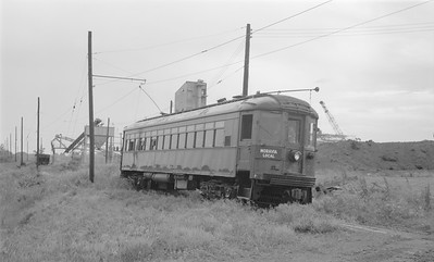 2018.15.N64.2985--ed wilkommen 116 neg--Southern Iowa Rwy--electric interurban 727--location unknown--no date