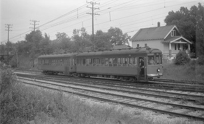 2018.15.N91A.6603--ed wilkommen 116 neg--Speedrail--cars 31 and 32 on Suburban train at 58th Street--Milwaukee WI--no date