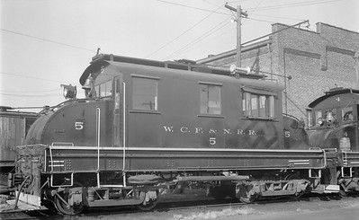 2018.15.N64.3019--ed wilkommen 116 neg--WCF&N--electric locomotive 5--Waterloo IA--1954 0718
