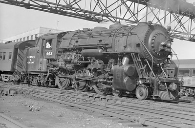 2018.15.N95A.7189--ed wilkommen 6x9 neg--B&A--steam locomotive 4-6-6T 402--Boston MA--1948 0700