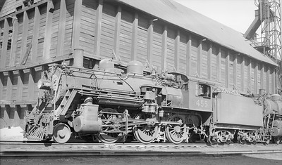 2018.15.N95B.7204D--ed wilkommen 116 neg [Stan Mailer]--B&M--steam locomotive 2-6-0 B-15 1455--Boston MA--1955 0500